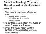 guide for reading what are the different kinds of seismic waves