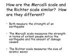 how are the mercalli scale and the richter scale similar how are they different