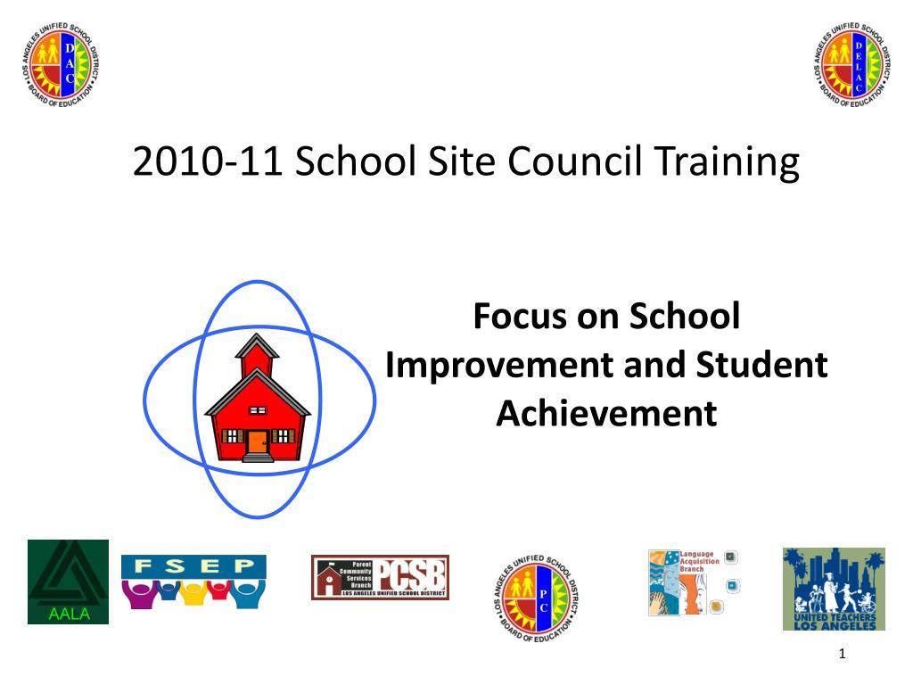 2010 11 school site council training l.