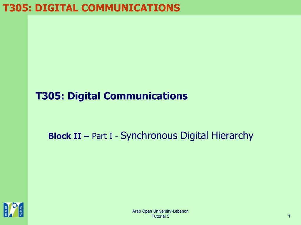 t305 digital communications l.