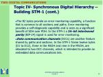 topic iv synchronous digital hierarchy building stm 1 cont36