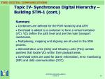 topic iv synchronous digital hierarchy building stm 1 cont38