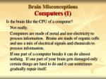 brain misconceptions computers 1