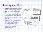 earthquake risk