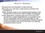 web 2 0 mashups