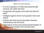 web 3 0 conclusion