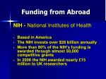 funding from abroad