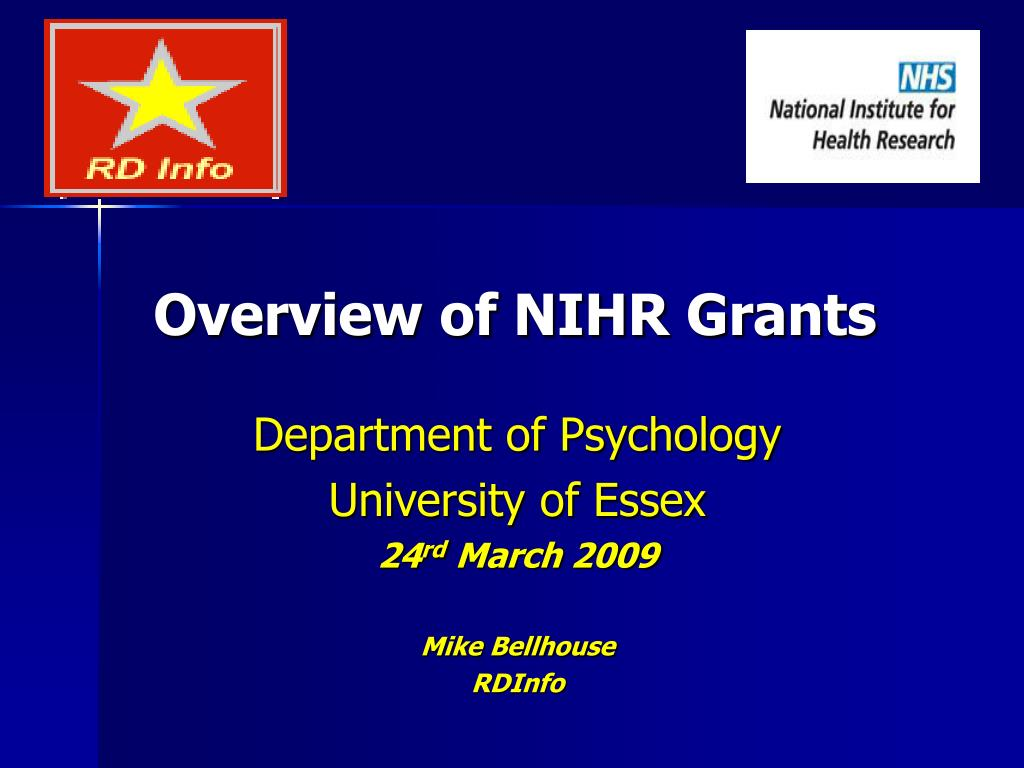 overview of nihr grants l.