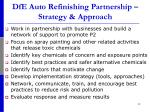 dfe auto refinishing partnership strategy approach