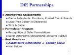 dfe partnerships