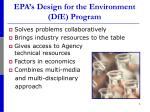epa s design for the environment dfe program