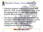 backfire flame arrestor bfa