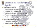 examples of visual distress signals