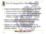 fire extinguisher maintenance