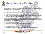 marine sanitation devices