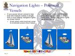 navigation lights powered vessels