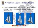 navigation lights sailing vessels