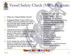 vessel safety check vsc program