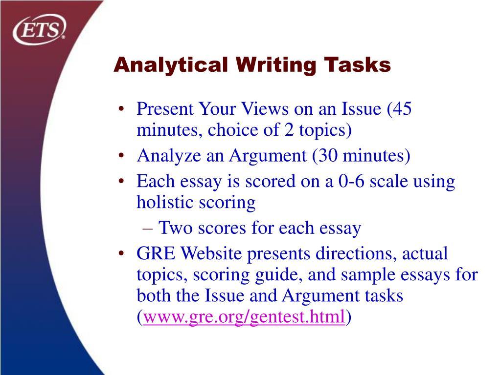 Analytical Writing Tasks