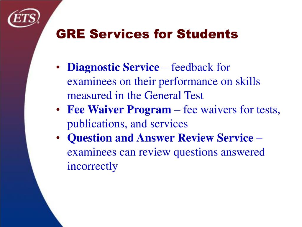 GRE Services for Students
