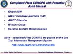 completed fleet conops with potential joint interest