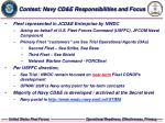 context navy cd e responsibilities and focus