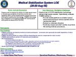 medical stabilization system loe 29 30 aug 06