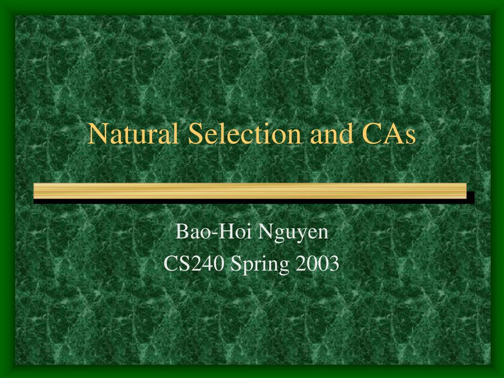 natural selection and cas l.