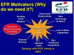efr motivators why do we need it