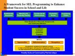 a framework for sel programming to enhance student success in school and life