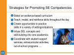 strategies for promoting se competencies