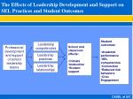 the effects of leadership development and support on sel practices and student outcomes