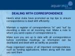 dealing with correspondence