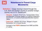 waterborne in transit cargo movements