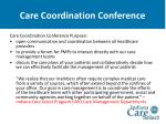 care coordination conference