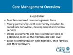 care management overview