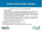 online cm provider portals63