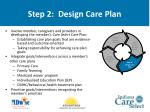 step 2 design care plan