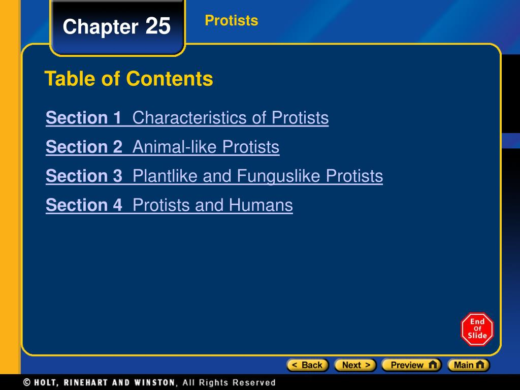 table of contents l.