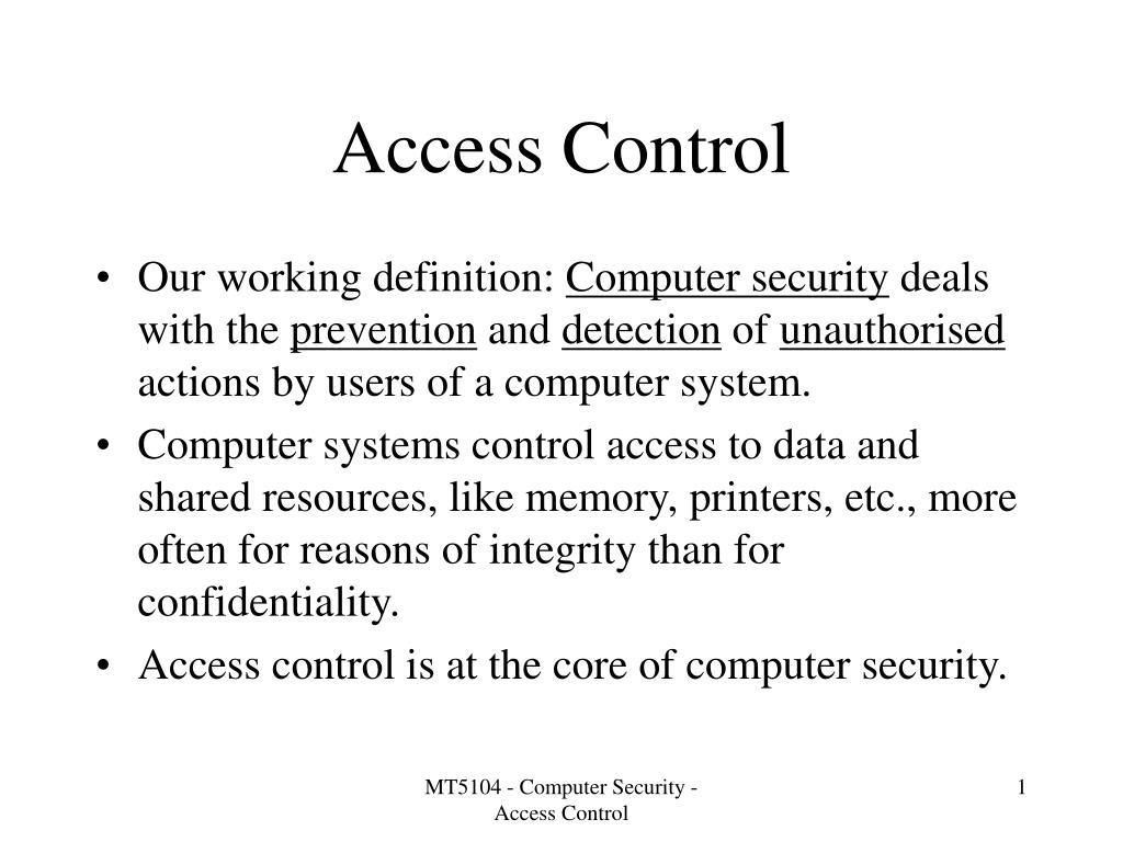 access control l.