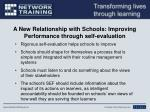 a new relationship with schools improving performance through self evaluation