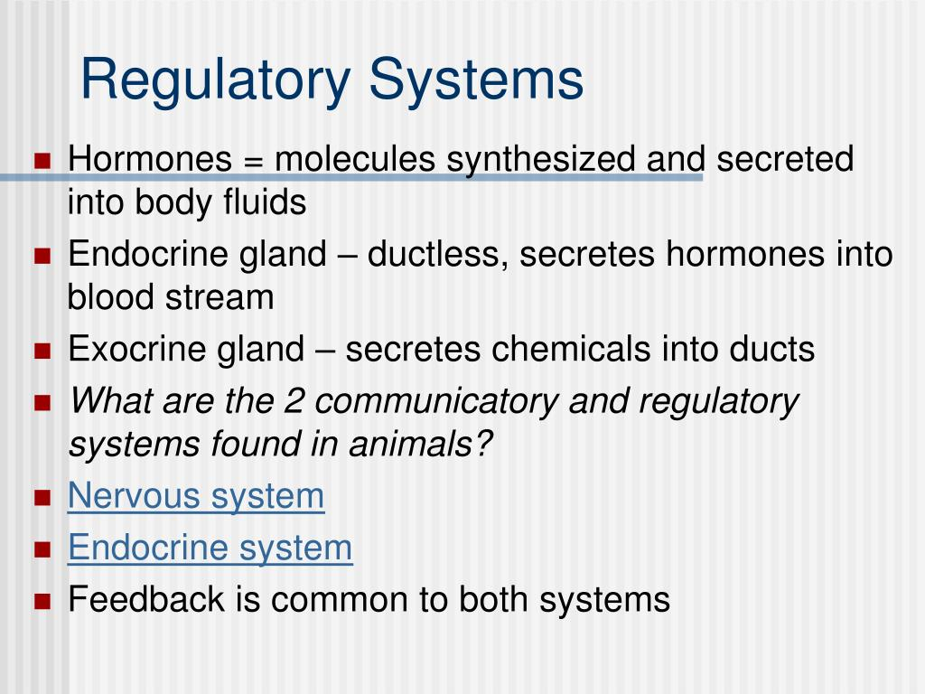 Ppt Regulatory Systems Powerpoint Presentation Id514622