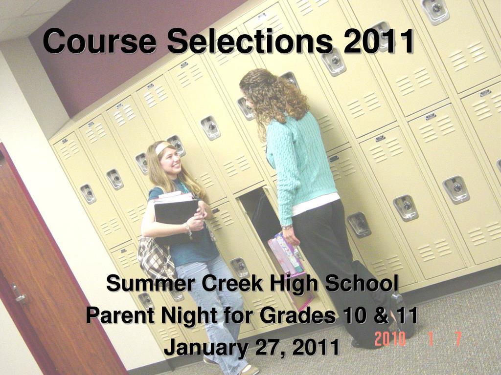 course selections 2011 l.
