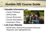 humble isd course guide