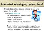 interested in taking an online class12