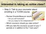 interested in taking an online class13