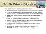 txvsn driver s education