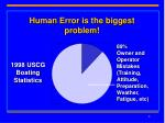 human error is the biggest problem