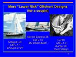 more lower risk offshore designs for a couple