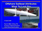 offshore sailboat attributes what to look for